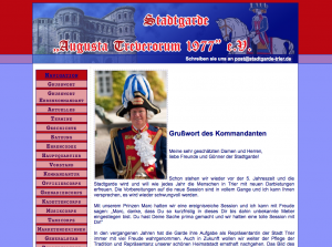 Snapshot der alten Website